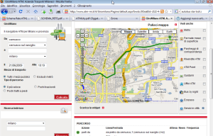 Clicca per ingrandire il percorso della metrò (ma non gli orari)